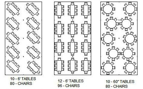 How Many Can Sit At A Table - Banquet table spacing